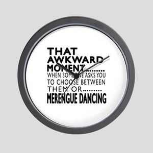 Merengue Dance Awkward Designs Wall Clock