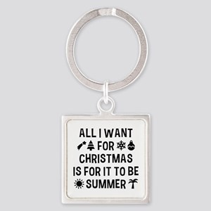 All I Want For Christmas Square Keychain