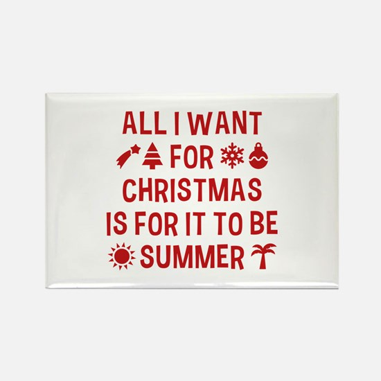 All I Want For Christmas Rectangle Magnet