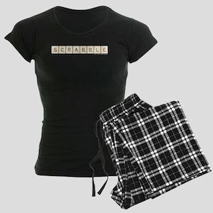 Vintage Scrabble Tiles Women's Dark Pajamas