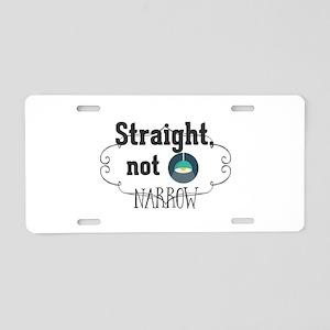 Straight, not narrow Aluminum License Plate