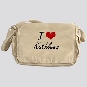 I Love Kathleen artistic design Messenger Bag