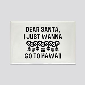 Dear Santa Rectangle Magnet