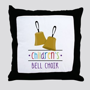 Childrens Bell Choir Throw Pillow