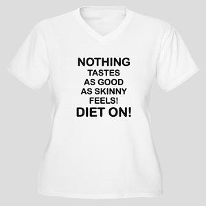 DIET -  NOTHING T Women's Plus Size V-Neck T-Shirt
