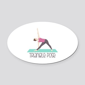 Triangle Pose Oval Car Magnet