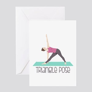 Triangle Pose Greeting Cards