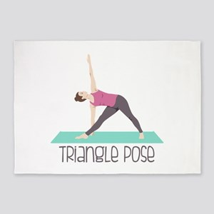 Triangle Pose 5'x7'Area Rug