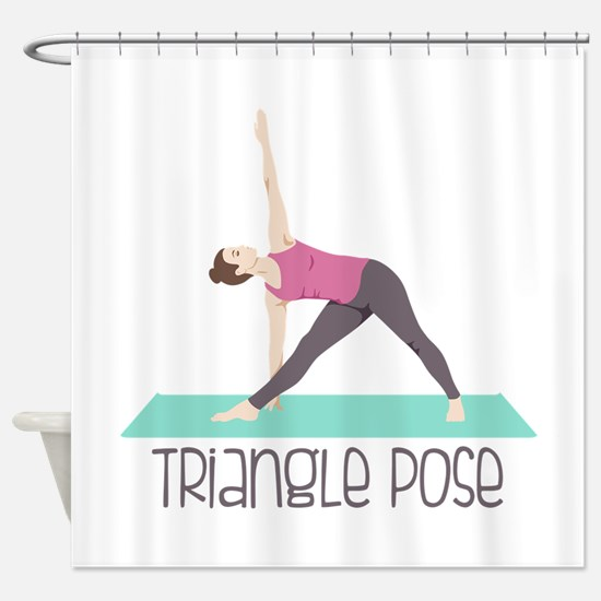 Triangle Pose Shower Curtain