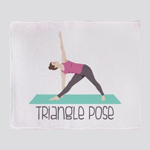 Triangle Pose Throw Blanket