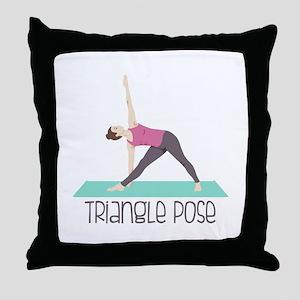 Triangle Pose Throw Pillow