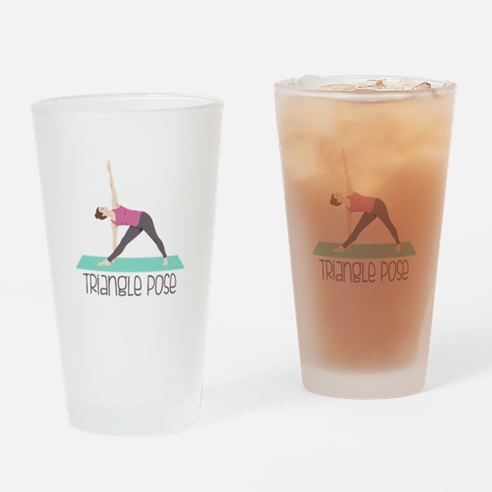 Triangle Pose Drinking Glass
