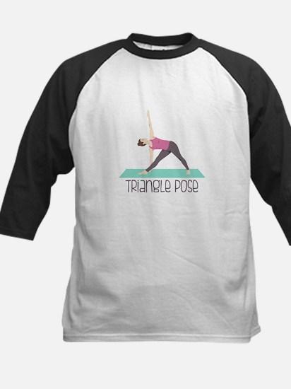 Triangle Pose Baseball Jersey