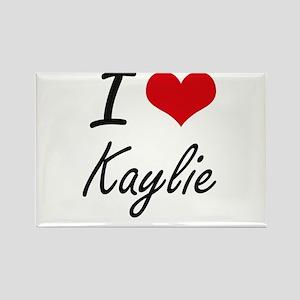 I Love Kaylie artistic design Magnets