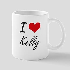 I Love Kelly artistic design Mugs