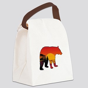BEAR SET Canvas Lunch Bag