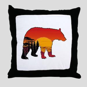 BEAR SET Throw Pillow
