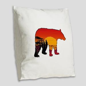BEAR SET Burlap Throw Pillow