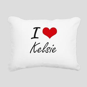 I Love Kelsie artistic d Rectangular Canvas Pillow