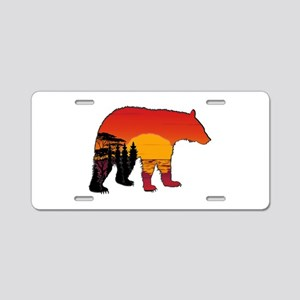 BEAR SET Aluminum License Plate