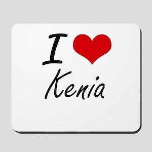 I Love Kenia artistic design Mousepad