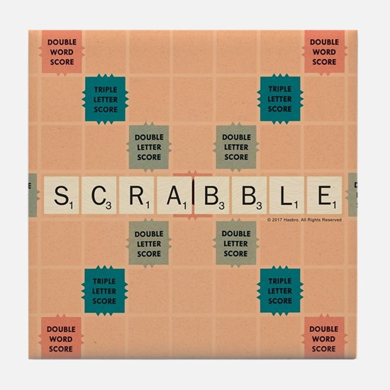 Scrabble Tiles Tile Coaster