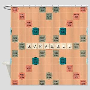 Scrabble Tiles Shower Curtain