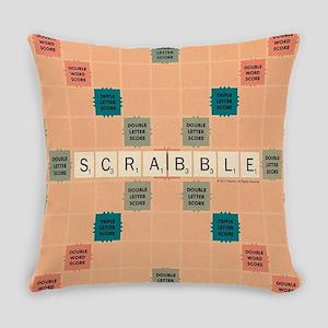 Scrabble Tiles Everyday Pillow