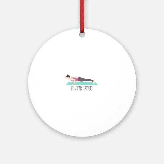 Plank Pose Round Ornament