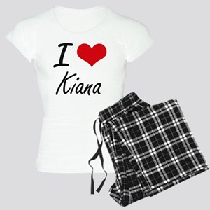 I Love Kiana artistic desig Women's Light Pajamas