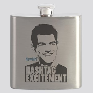New Girl Hashtag Excitement Flask