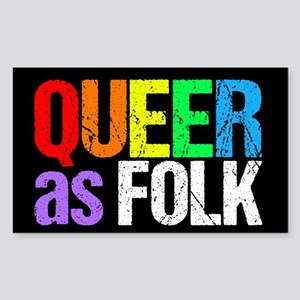 Queer As Folk Sticker (Rectangle)