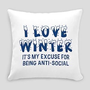 I Love Winter Everyday Pillow