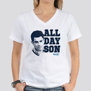 New Girl All Day Son Women's V-Neck T-Shirt