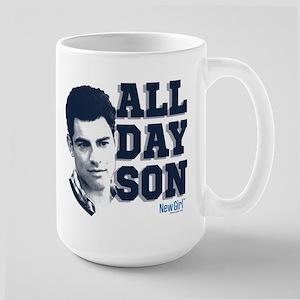 New Girl All Day Son Large Mug