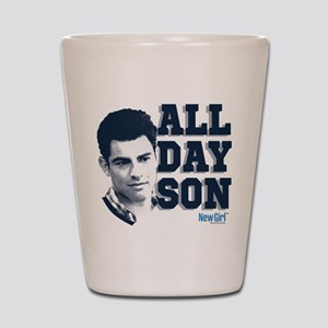 New Girl All Day Son Shot Glass