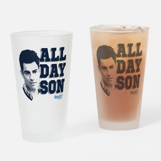 New Girl All Day Son Drinking Glass