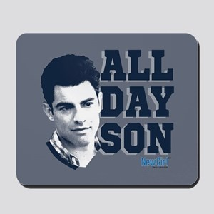 New Girl All Day Son Mousepad