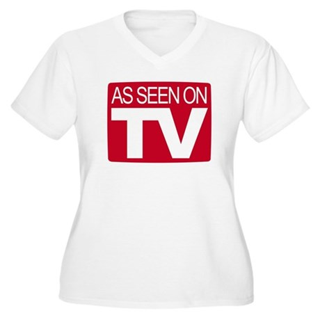 As Seen On TV Women's Plus Size V-Neck T-Shirt