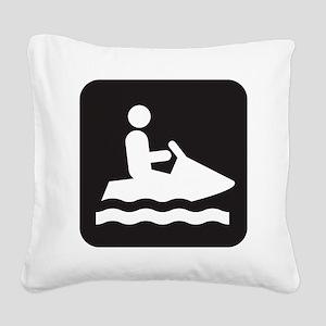 Jet Ski Park Symbol Square Canvas Pillow