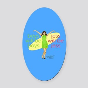 New Girl Jess will be Jess Oval Car Magnet