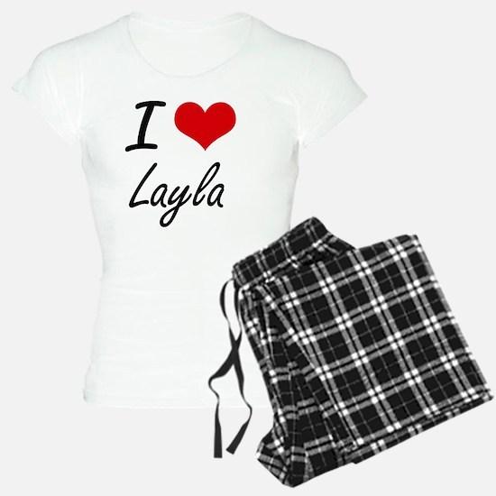 I Love Layla artistic desig Pajamas