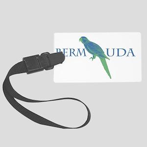 Bermuda Parrot Large Luggage Tag