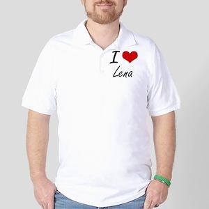 I Love Lena artistic design Golf Shirt