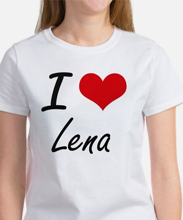 I Love Lena artistic design T-Shirt