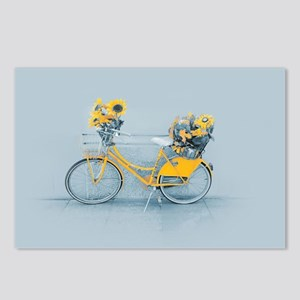 Yellow sunflower vintage Postcards (Package of 8)