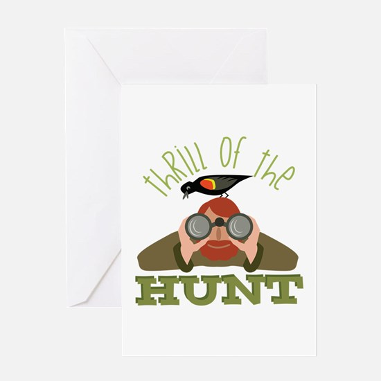 Thrill Of Hunt Greeting Cards
