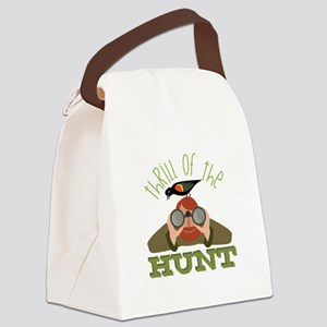 Thrill Of Hunt Canvas Lunch Bag