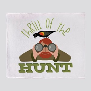 Thrill Of Hunt Throw Blanket