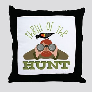Thrill Of Hunt Throw Pillow